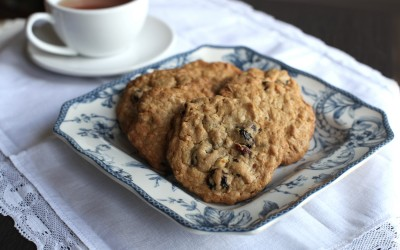 White Chocolate Oatmeal Cherry Cookies